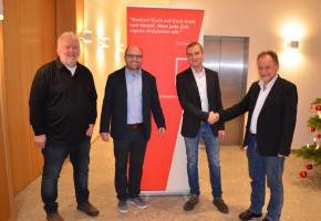 Stephan Arndt mit Egon Neder; Sebastian Müller und Jochen Körner